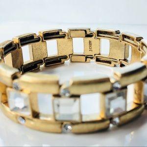 J. Crew Jewelry - J. Crew Antiqued Gold Tone Stretch Bracelet